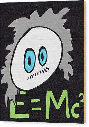 Cronkle Einstein Wood Print by Jera Sky