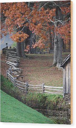 Wood Print featuring the photograph Crooked Fence by Eric Liller