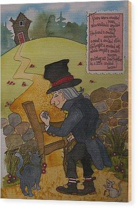 Crooked Man Wood Print by Victoria Heryet