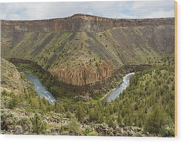 Crooked River Gorge Wood Print by Joe Hudspeth