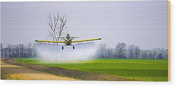 Precision Flying - Crop Dusting 1 Of 2 Wood Print