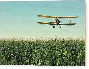 Crops Dusted Wood Print by Todd Klassy
