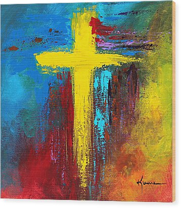 Cross 2 Wood Print
