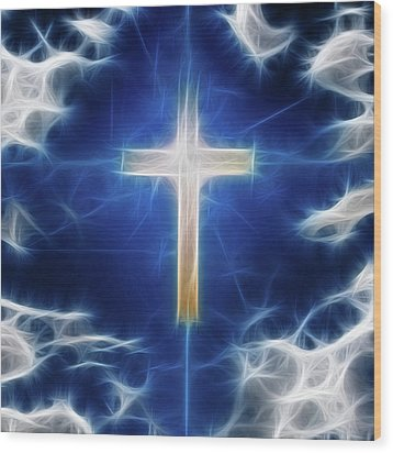 Cross Abstract Wood Print