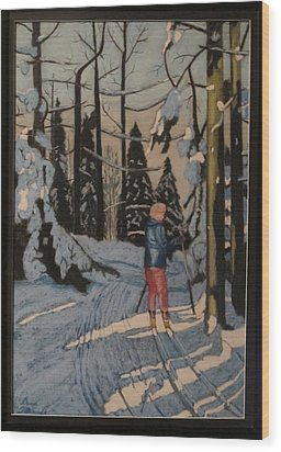 Cross Country Skiing In Upstate Ny Wood Print