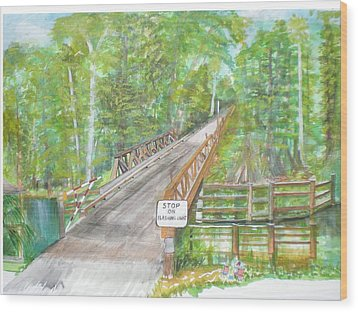 Cross Creek The Forest Wood Print by Hal Newhouser