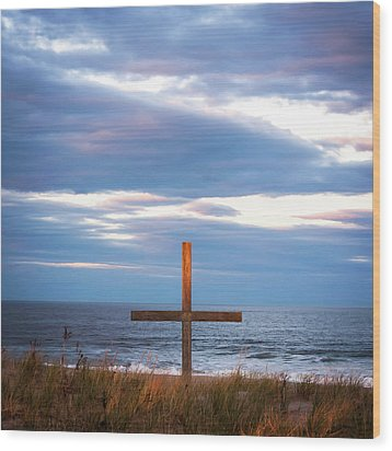 Wood Print featuring the photograph Cross Light Square by Terry DeLuco