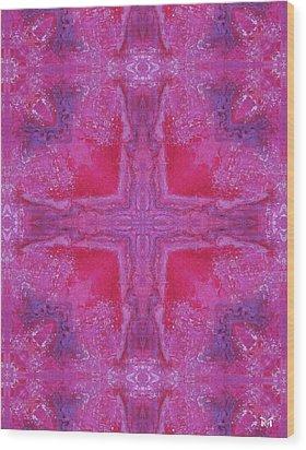 Cross Of Love Wood Print