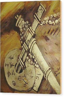 Cross Wood Print by Shelley Bain