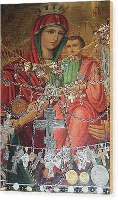 Crosses Wood Print by Munir Alawi