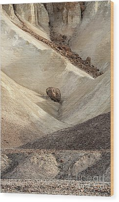 Wood Print featuring the photograph Crossing Paths - Death Valley by Sandra Bronstein