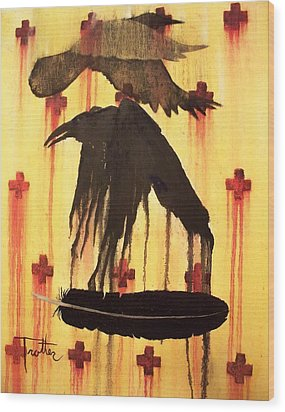 Crossing Paths Wood Print by Patrick Trotter
