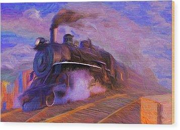 Crossing Rails Wood Print