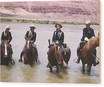 Crossing The Colorado River Wood Print