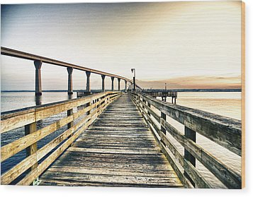 Crossing The River  Wood Print by Kelly Reber
