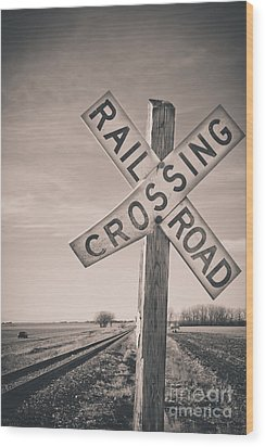 Crossings Wood Print by Christina Klausen