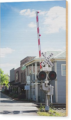 Wood Print featuring the photograph Crossings In Old Town Helena by Parker Cunningham