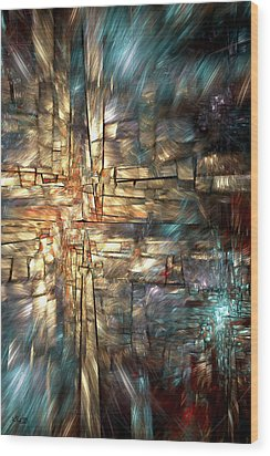 Crossroads Wood Print by Kim Redd