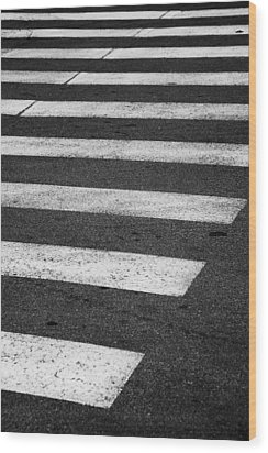 Crosswalk Wood Print by Gabriela Insuratelu