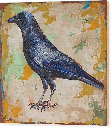 Crow #1 Wood Print by David Palmer