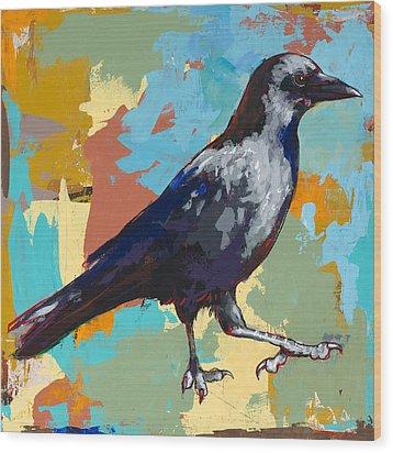 Crow #2 Wood Print by David Palmer