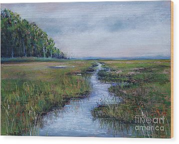Crow Creek Marsh Wood Print by Joyce A Guariglia