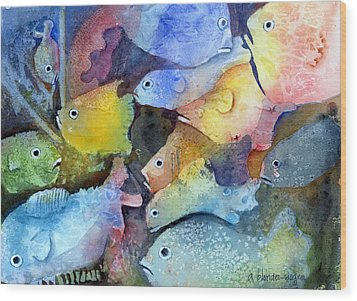 Crowded Space Wood Print by Arline Wagner