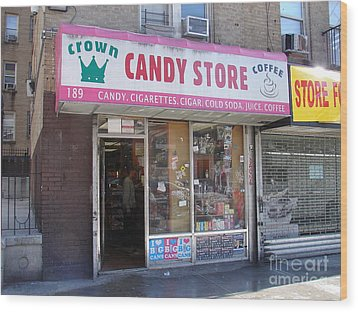 Crown Candy Store  Wood Print by Cole Thompson
