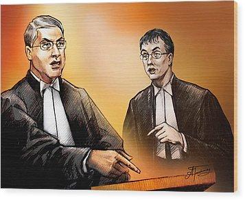 Crown Michael Carnegie Versus Defence Lawyer Dirk Derstine At The Rafferty Trial Wood Print