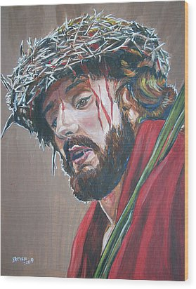 Wood Print featuring the painting Crown Of Thorns by Bryan Bustard