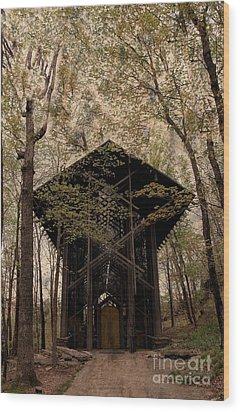 Crown Of Thorns Chapel Wood Print by Kathleen Struckle