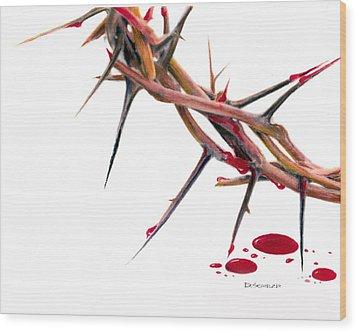 Crown Of Thorns Wood Print by Dennis Schmelzer