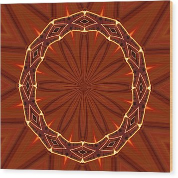Crown Of Thorns Wood Print by Kristin Elmquist