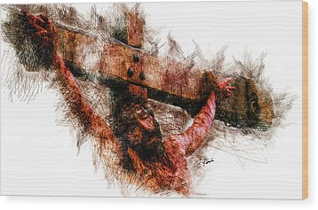 Crucifixion Wood Print