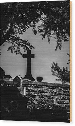 Crucis Wood Print