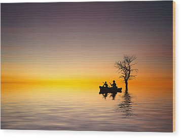 Wood Print featuring the pyrography Cruise by Bess Hamiti
