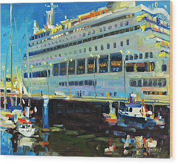 Cruise Ship Wood Print by Brian Simons