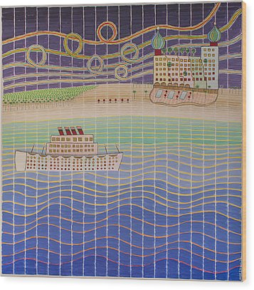 Cruise Vacation Destination Wood Print