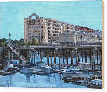 Cruiseport Boston Wood Print by Deb Putnam