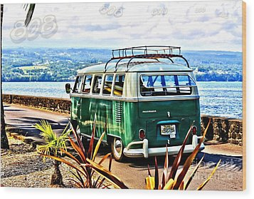 Wood Print featuring the photograph Cruisin' 808 by DJ Florek