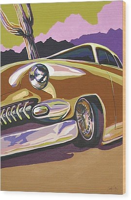 Cruisin Wood Print by Sandy Tracey