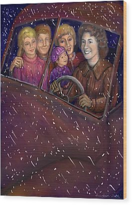 Cruisin' With The Big Kids Wood Print by Dawn Senior-Trask