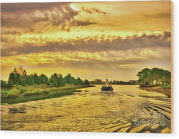 Wood Print featuring the photograph Cruising Out Of Murrells Inlet by Mel Steinhauer