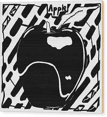 Cruncy And Delicious Maze Of Apple Wood Print by Yonatan Frimer Maze Artist