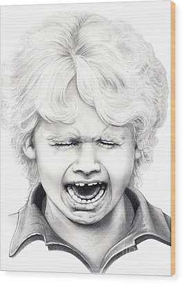 Cry Baby Wood Print by Murphy Elliott