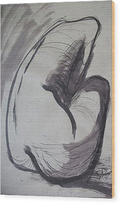 Crying Heart - Nudes Gallery Wood Print by Carmen Tyrrell