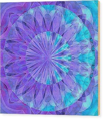 Crystal Aurora Borealis Wood Print