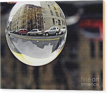 Crystal Ball Project 89 Wood Print by Sarah Loft