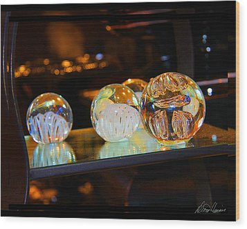 Crystal Balls Wood Print