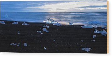 Wood Print featuring the photograph Crystal Beach Iceland by Brad Scott